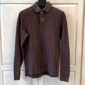 Abercrombie Brown Men's long sleeve Muscle Shirt